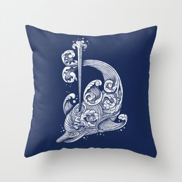 The Dolphin Wave Throw Pillow