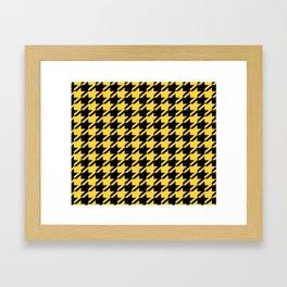 Yellow Houndstooth Framed Art Print