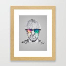 Albert Hofmann - Psychedelic Polygon Low Poly Portrait Framed Art Print