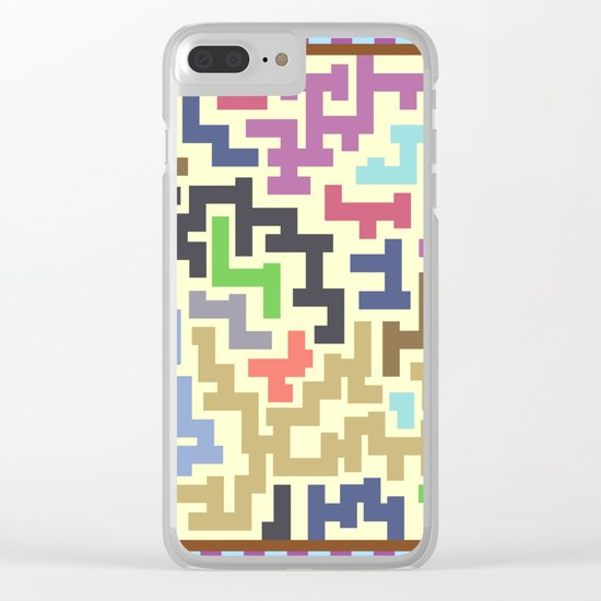 Colorful Maze IV Clear iPhone Case