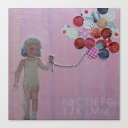 pink balloons Canvas Print