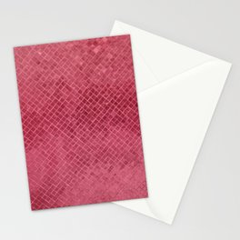 Modern trendy geometric mauve red glitter Stationery Cards