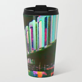 Dominos in the Sky with Rainbows Metal Travel Mug