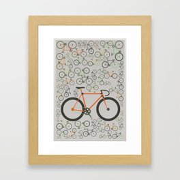 Fixed gear bikes Framed Art Print