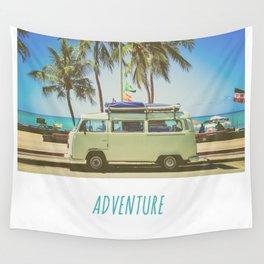 Surf Van Road Trip Beach California Wall Tapestry