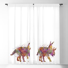 Diabloceratops dinosaur in watercolor Blackout Curtain