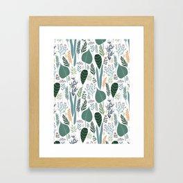 Early Spring Thaw In The Flower Garden Pattern Framed Art Print