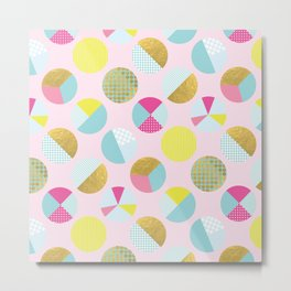 Goldielocks Gold Spots  Metal Print