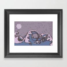 Midnight Ocean Framed Art Print