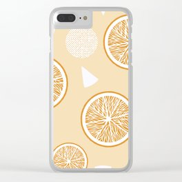 Orange and Triangle seamless pattern, from the Orange Blossom Pattern Collection Clear iPhone Case