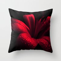ruby Throw Pillows featuring Ruby by Vitta