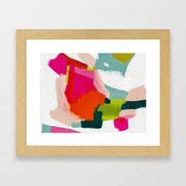 abstract pink art Framed Art Print