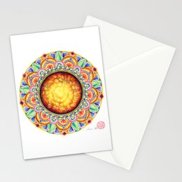 SOLAR CHAKRA MANDALA Stationery Cards