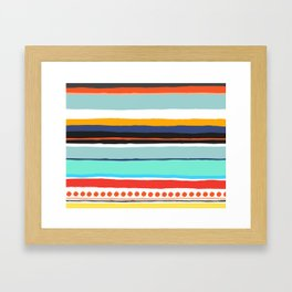 Pop Dot Line Framed Art Print