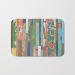 Maui Fence Hawaii Colorful Art Bath Mat
