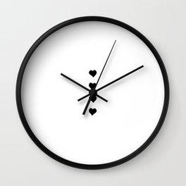 Vertical hearts dots minimalism Wall Clock