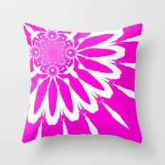 Fuchsia Pink Red Pinwheel Flowers Throw Pillow