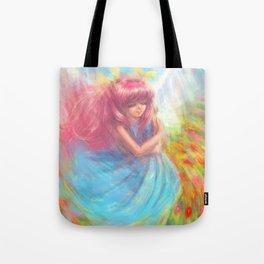 A dream of Spring Wedding Peach Tote Bag