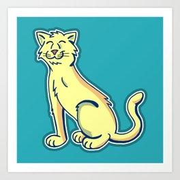 Tripod Cat Art Print