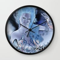 fairy Wall Clocks featuring Fairy  by nicky2342