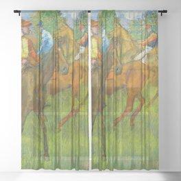 Before the Race - By Edgar Degas Sheer Curtain