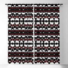 Bubbles Kaleidoscopic Blooming - Red - Visual Abstract Art Blackout Curtain