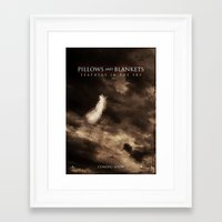 blankets Framed Art Prints featuring Pillows & Blankets: Feathers in the Sky by Alecxps