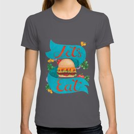 Food Burger Artwork With Lettering T-shirt