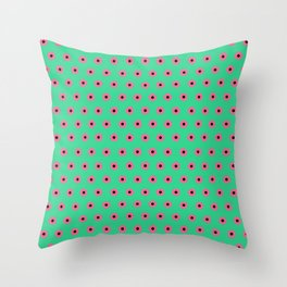 Pink Daisies on Mint Green Throw Pillow