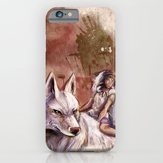 Miyazaki's Mononoke Hime - San and the Wolf TraDigital Painting iPhone & iPod Case