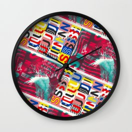 These Suuns Be Armed For Peace Wall Clock