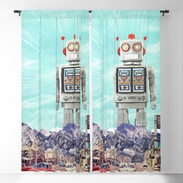Robot in Town Blackout Curtain