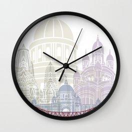 Kolkata skyline poster Wall Clock