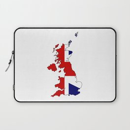 United Kingdom Map and Flag Laptop Sleeve