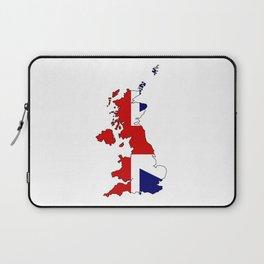 United Kingdom Map and Flag Laptop Sleeve