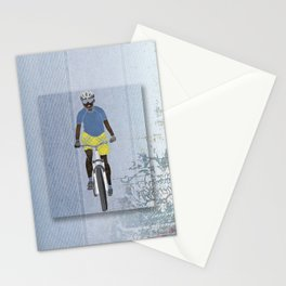 Bicycle girl 1 Stationery Cards