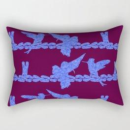 Purple Hummingbirds on Ultraviolet Line Rectangular Pillow