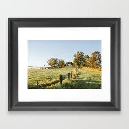 Byron Bay Farm Framed Art Print