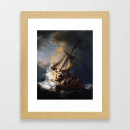 Stolen Painting - The Storm on the Sea of Galilee by Rembrandt Framed Art Print