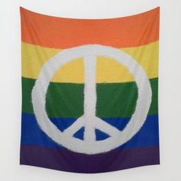 Rainbow Peace Sign Wall Tapestry