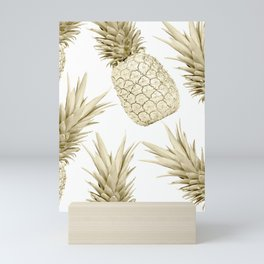 Gold Pineapple Party Mini Art Print