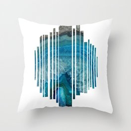 Shredded Agate Throw Pillow