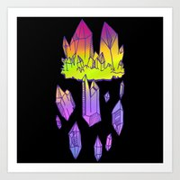 minerals Art Prints featuring they're minerals by HiddenStash Art