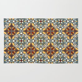Abstract geometric retro seamless pattern Rug