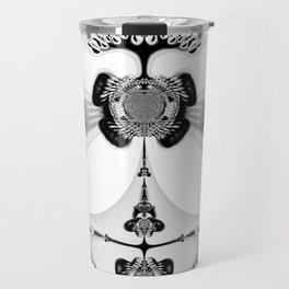 Fractal Art - Angel and Skelleton Travel Mug