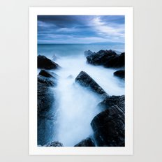 Disappearing waves Art Print