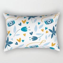floral & photo Rectangular Pillow