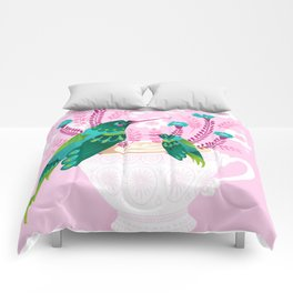 Hummingbirds on Teacup Comforters