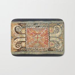Kaitag 18th Century Caucasian Embroidery Print Bath Mat