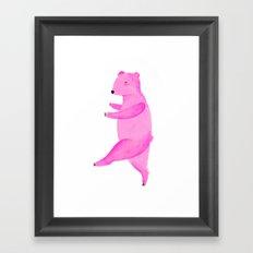 Dancing Bear №1 Framed Art Print